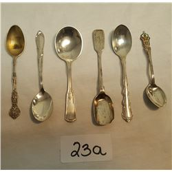 6 Sterling Assorted Spoons