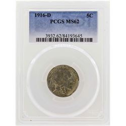 1916-D Buffalo Nickel Coin PCGS MS62
