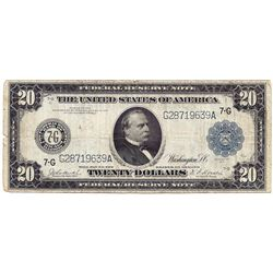 1914 $20 Federal Reserve Note
