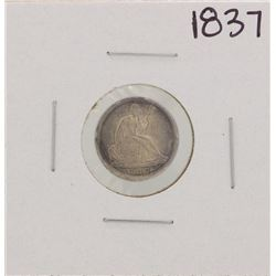 1837 No Stars Seated Half Dime Coin