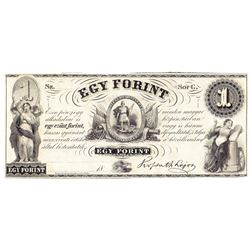 1800's $1 EGY Forint - Obsolete Note UNC
