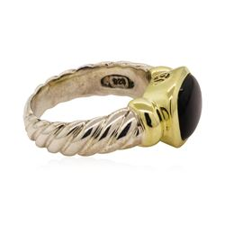 David Yurman Black Onyx Ring - Sterling Silver and 14KT Yellow Gold