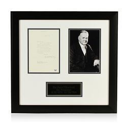 Herbert Hoover Signed Letter Display PSA Certified