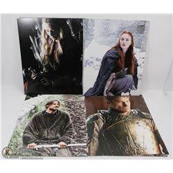 LOT OF 26 POSTER PICTURES INCL GAME OF THRONES