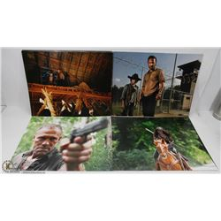 LOT OF 20 POSTER PICTURES INCL WALKING DEAD