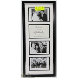 91) BRIAN MULRONEY AUTHENTIC SIGNED FRAMED PIC