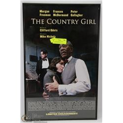 90) COUNTRY GIRL FRAMED PICTURE SIGNED BY