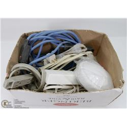 ESTATE BOX OF EXTENSION CORDS & MULTI OUTLET PLUGS