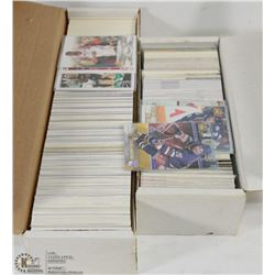 2 BOXES OF CARDS - APPROX 750 NHL AND APPROX 1000