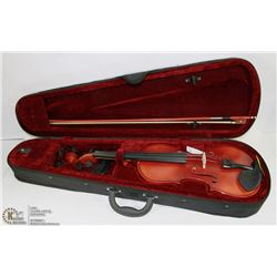 VIOLIN 4/4 SATIN FINISH WITH BOW & HARD CASE