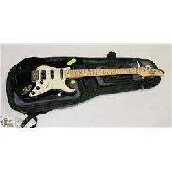 GUITAR ROCKER ELECTRIC BLACK WITH SOFT CASE.