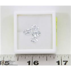 258) 4 GENUINE COLORLESS TOPAZ, APPROX 4 CTS