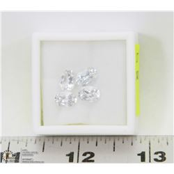 297) 4 CUBIC ZIRCONIA, OVALS, APPROX 5 CTS