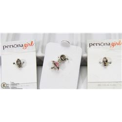 "LOT OF 3  NEW STERLING SILVER ""PANDORA"" STYLE .925"