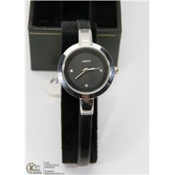 NEW KEZZIE LADIES WATCH BLACK STRAP.