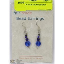 HANDMADE FAIR TRADE BEAD EARRINGS.