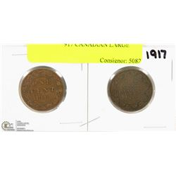 1910 AND 1917 CANADIAN LARGE PENNIES