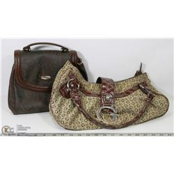 "2 HANDBAGS INCL VINTAGE ""GUESS"""