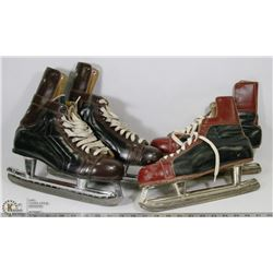 2 PAIR OF VINTAGE HOCKEY SKATES
