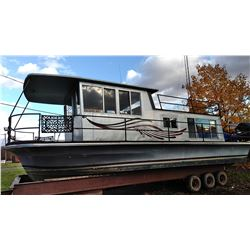 1967 NAUTALIN  32' HOUSE BOAT w TRI- AXL STEEL HD TRAILER