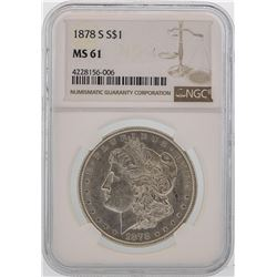 1878-S $1 Morgan Silver Dollar Coin NGC MS61