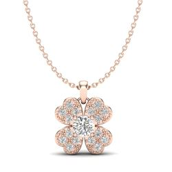 0.27 CTW Micro Pave VS/SI Diamond Necklace 14K Rose Gold - REF-30N8Y - 20350