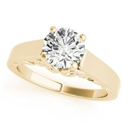 0.75 CTW Certified VS/SI Diamond Solitaire Ring 18K Yellow Gold - REF-189T8M - 27782