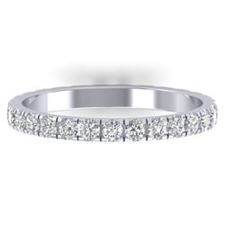 0.86 CTW Certified VS/SI Diamond Art Deco Eternity Band 14K White Gold - REF-52A8X - 30324