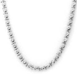 4.0 CTW Certified VS/SI Diamond Necklace 14K White Gold - REF-345H5A - 13458