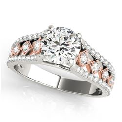 1 CTW Certified VS/SI Diamond Solitaire Ring 18K White & Rose Gold - REF-146W4F - 27891