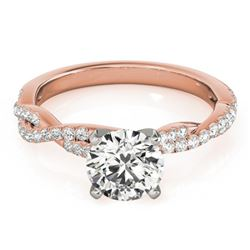 1 CTW Certified VS/SI Diamond Solitaire Wedding Ring 18K Rose Gold - REF-189W6F - 27847