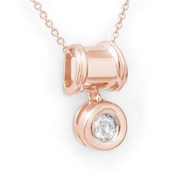 0.16 CTW Certified VS/SI Diamond Pendant 14K Rose Gold - REF-21X8T - 13574