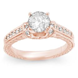 1.50 CTW Certified VS/SI Diamond Ring 14K Rose Gold - REF-376H9A - 11267