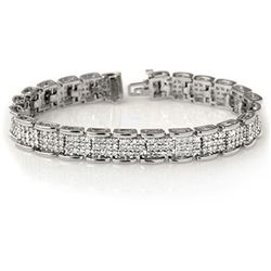 7.0 CTW Certified VS/SI Diamond Bracelet 18K White Gold - REF-488A3X - 14081