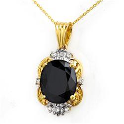 8.59 CTW Blue Sapphire & Diamond Pendant 14K Yellow Gold - REF-81W8F - 14102