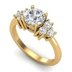 1.5 CTW VS/SI Diamond Solitaire Ring 18K Yellow Gold - REF-409F3N - 36940