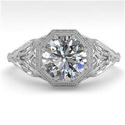 1.50 CTW VS/SI Diamond Solitaire Engagement Ring 18K White Gold - REF-547Y6K - 36051