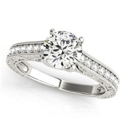 1.32 CTW Certified VS/SI Diamond Solitaire Ring 18K White Gold - REF-371T3M - 27558