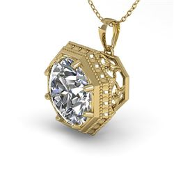 1 CTW Certified VS/SI Diamond Necklace 18K Yellow Gold - REF-284M3H - 35995