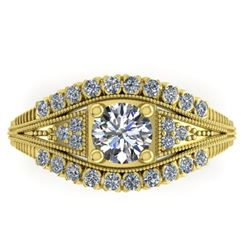 1.50 CTW Solitaire Certified VS/SI Diamond Ring 14K Yellow Gold - REF-232M2H - 38549