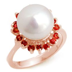 0.75 CTW Red Sapphire Ring 14K Rose Gold - REF-39X8T - 10359