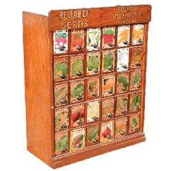 Reliable Seeds display cabinet, Sioux City Seed & Nursery Co ...