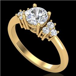 1 CTW VS/SI Diamond Solitaire Ring 18K Yellow Gold - REF-227W3F - 36937