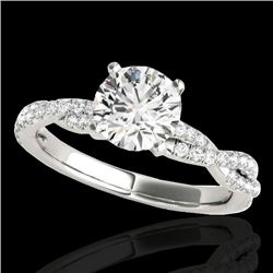1.25 CTW H-SI/I Certified Diamond Solitaire Ring 10K White Gold - REF-254M5H - 35232