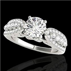 1.7 CTW H-SI/I Certified Diamond Solitaire Ring 10K White Gold - REF-180A2X - 35259