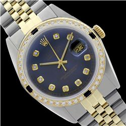 Rolex Ladies Two Tone 14K Gold/SS, Diam Dial & Diam/Sapphire Bezel, Sapphire Crystal - REF-434H4W