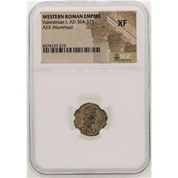 Valentinian I 364-375 AD Ancient Western Roman Empire Coin NGC XF