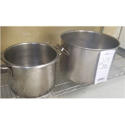 LOT OF 2PC LARGE STAINLESS STEEL POTS