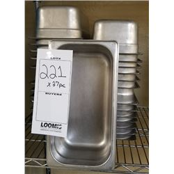 LOT OF 27PC STAINLESS STEEL LOAF PANS