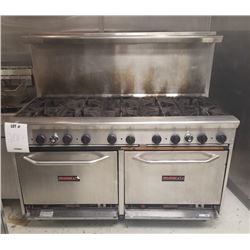 TRISTAR COMMERCIAL GAS STOVE AND 2 OVENS